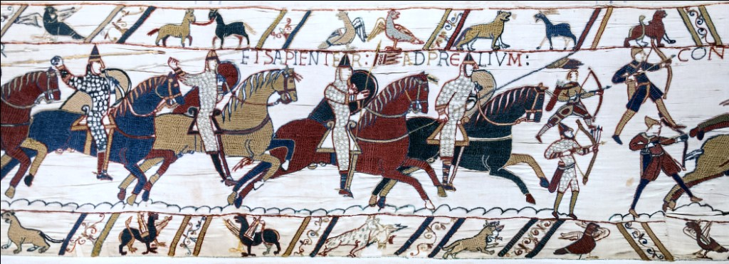 Bayeux tapestry scene51 battle of hastings norman knights and archers