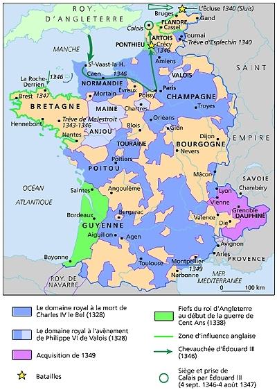 Debut la guerre de cent ans 1338 1350