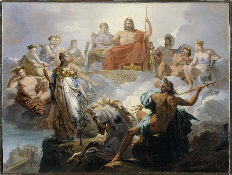 Dispute de poseidon et athena