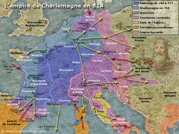 Empire charlemagne 814