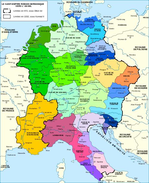 Empire romain germanique 1000