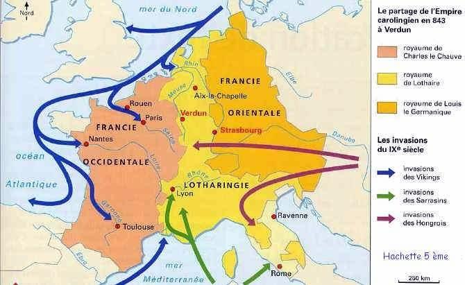 Invasions vikings 843 verdun
