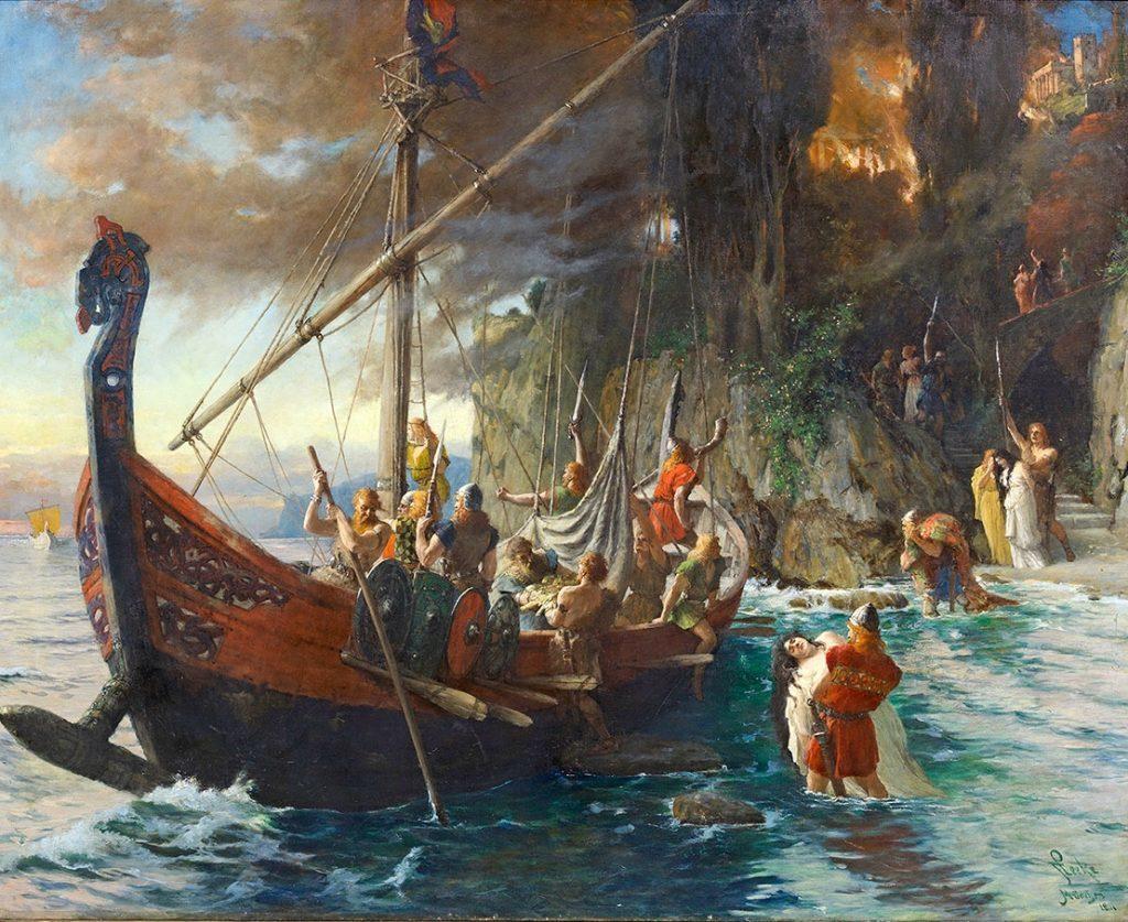 Viking ships raid 1024x837