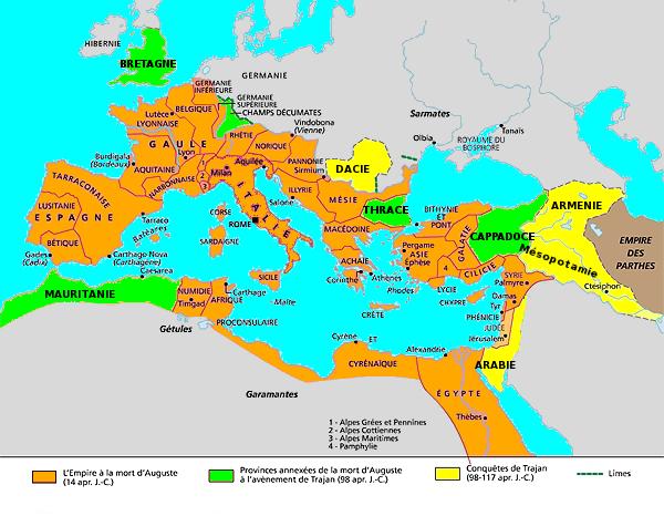 L'apogée de l'empire romain : les Antonins